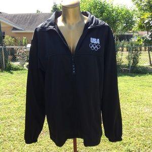 USA Olympic Team Black Sweatshirt Size L